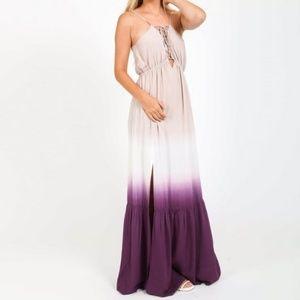 Dresses & Skirts - Purple Gradient Ombré Maxi Tiered Boho Dress